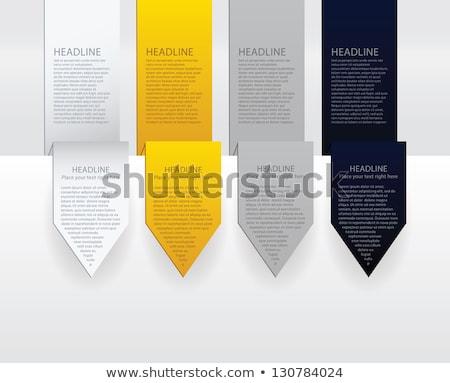 Vektor luxus nyíl címkék papír arany Stock fotó © vitek38