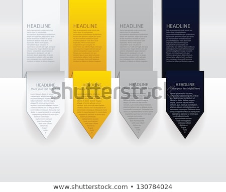 vector luxury arrow labels paper gold silver and black velvet stock photo © vitek38