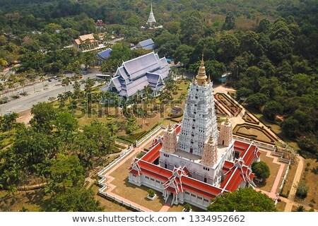 Templo complexo Tailândia madeira jardim árvores Foto stock © RuslanOmega