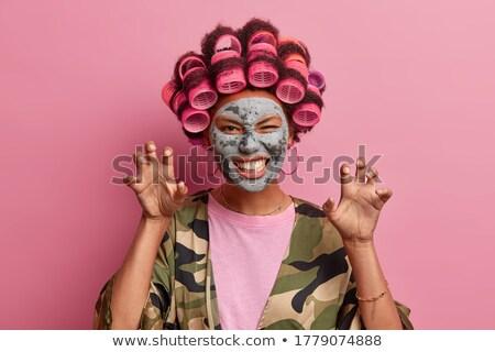 donna · cat · maschera · indossare · travestimento · illustrazione · 3d - foto d'archivio © andersonrise
