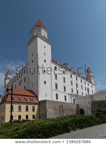 Братислава · замок · закат · право · банка · Дунай - Сток-фото © hraska