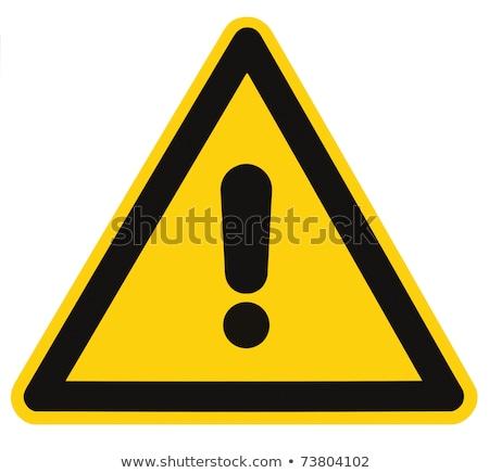 gelb · andere · Warnzeichen · weiß · Technologie · Sicherheit - stock foto © SolanD