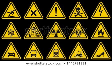 знак · опасности · осторожность · оранжевый · знак · завода - Сток-фото © Ustofre9