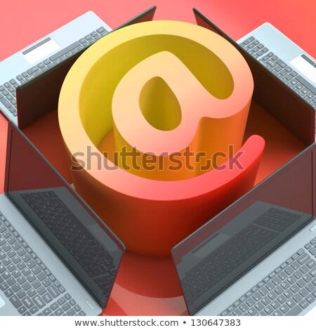 egymásra · pakolva · email · üzenet · bejövő · üzenetek · postaláda · mutat - stock fotó © stuartmiles