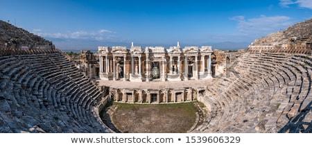 древних · амфитеатр · руин · Турция · пейзаж · небе - Сток-фото © tony4urban