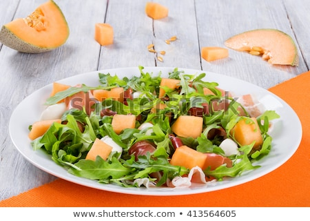 melon salad with parma ham Stock photo © M-studio