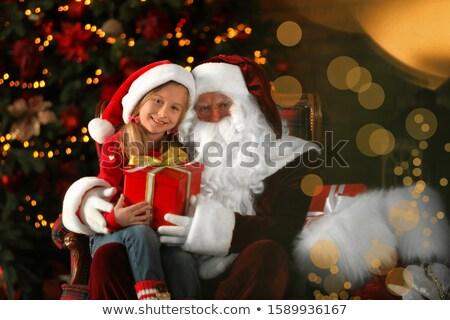 Kerstmis geschenken kid gelukkig vakantie Stockfoto © macsim