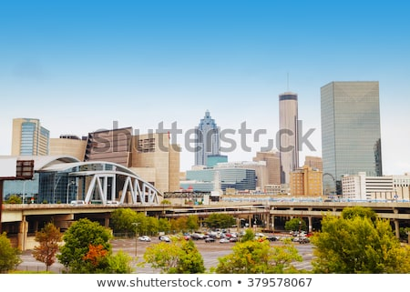 Atlanta · belváros · épületek · magas · víz · szökőkút - stock fotó © andreykr