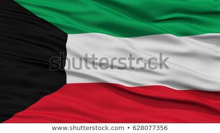 высокий разрешение флаг Кувейт стране ткань Сток-фото © joggi2002