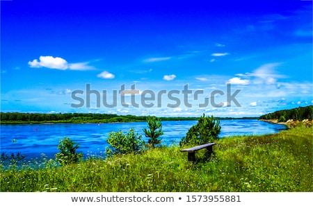bank · water · natuur · zee · groene · ontspannen - stockfoto © sineok