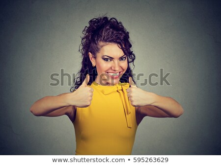 Feliz mulher perfeito gesto belo mulher jovem Foto stock © fantasticrabbit