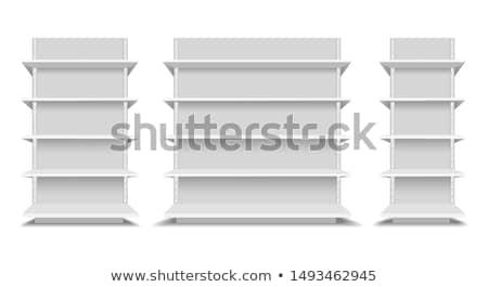 Polc drága butik párnák dobozok bútor Stock fotó © ssuaphoto