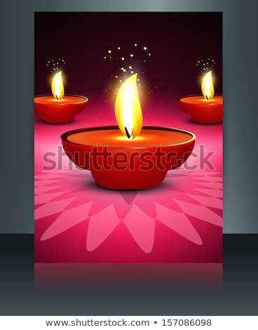 religious diwali card beautiful brochure reflection template vec stock photo © bharat