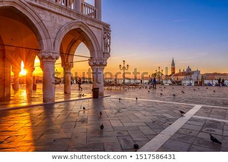 Velence Olaszország részlet velencei építészet szobor Stock fotó © FER737NG