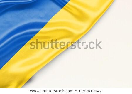 Ukrainian flag drawing Stock photo © marinini