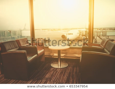 departure lounge at the airport stock photo © stockyimages