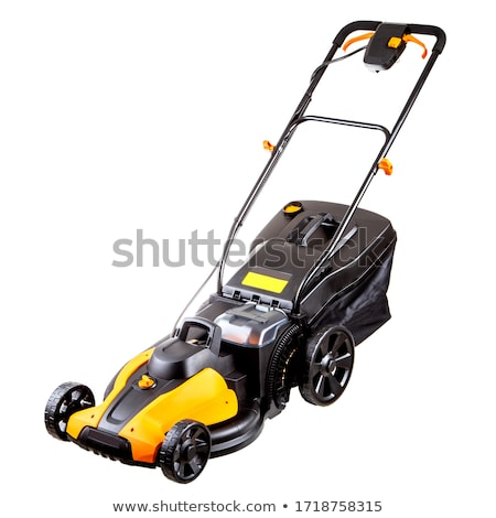 yellow lawn mower isolated Stock photo © goce