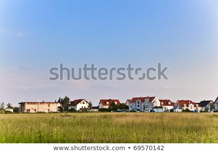 housing area in a suburban street in Munich Stock photo © meinzahn