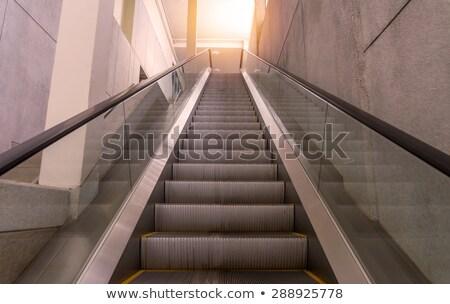 moving stairways in a metro station Stock photo © meinzahn