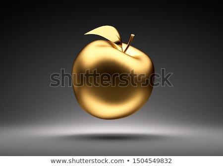 金 リンゴ 孤立した 白 3次元の図 ビジネス ストックフォト © Leonardi