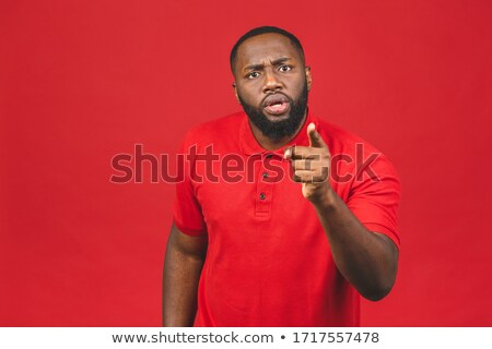 Angry, pointing man Stock photo © ichiosea