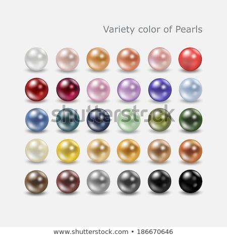 colorido · pérolas · bijoux · feminino · moda - foto stock © nneirda