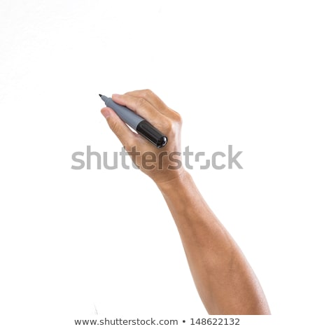 pen in the man's hand and signature Stock photo © mizar_21984