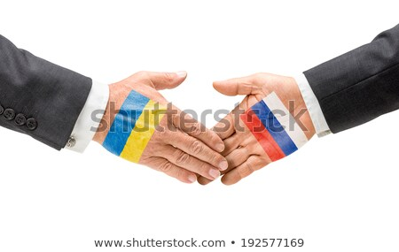Ukraine and Russia reach out their hands Stock photo © Zerbor