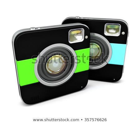 Instant camera. Isolated. Contains clipping path Stock photo © Kirill_M