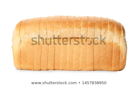 sliced bread crust isolated on white 