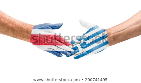 Handshake Costa Rica and Greece Stock photo © Zerbor