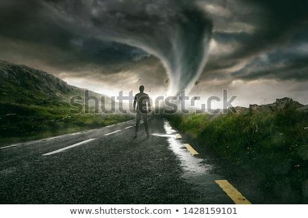 tempestade · vela · barcos · nuvens - foto stock © kimmit