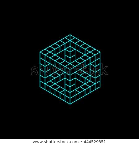 Cubo classico puzzle fotografia strategia soluzione Foto d'archivio © nalinratphi