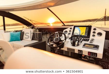 interiors of a speedboat stock photo © bmonteny