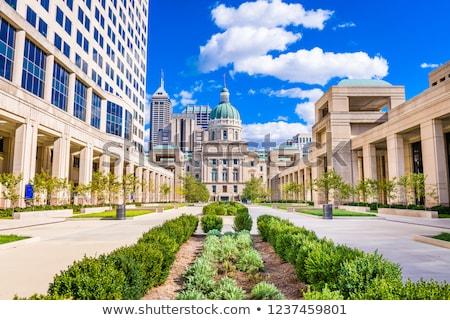 インディアナ州 建物 市 通り アメリカ 政治 ストックフォト © AndreyKr