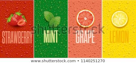 citrom · dzsúz · üveg · üveg · izolált · fehér - stock fotó © dezign56