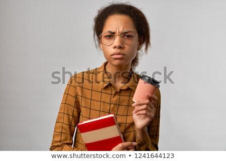 困惑して 若い女性 見える カメラ 魅力的な 長い ストックフォト © dash