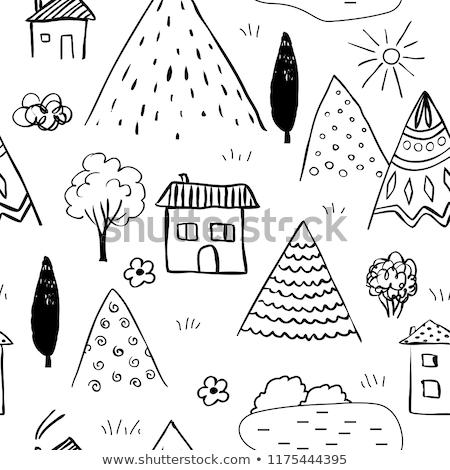 végtelenített · papír · textúra · pöttyös · absztrakt · ceruza · rajz - stock fotó © heliburcka
