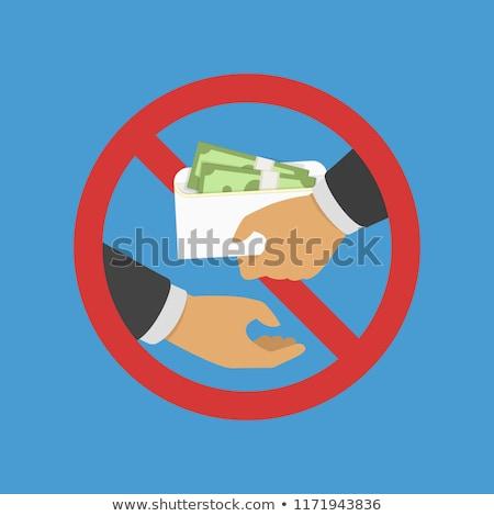 Bribe envelope illustration design Stock photo © alexmillos
