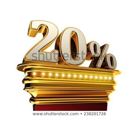 Twenty percent figure over white background Stock photo © creisinger