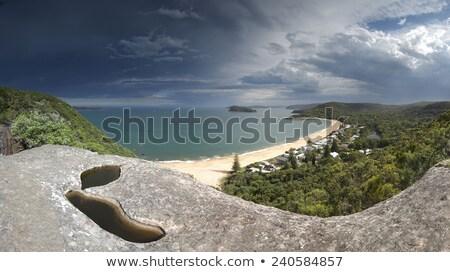 雲 真珠 ビーチ セントラル 海岸 ストックフォト © lovleah