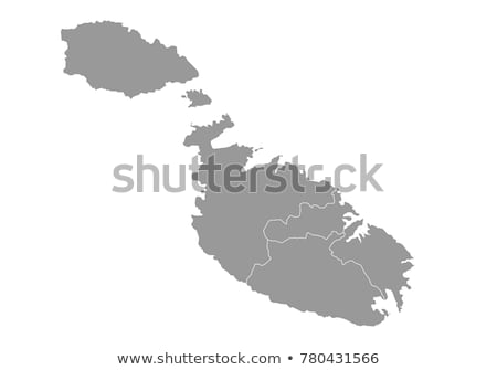 silhouette map of Malta Stock photo © mayboro