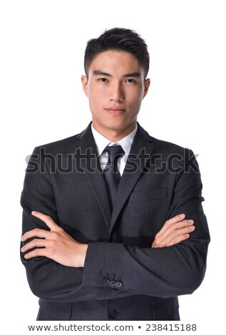 full length portrait of a happy asian man in sunglasses over white background stock photo © deandrobot