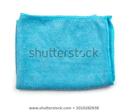 Blue microfiber duster macro background Stock photo © njnightsky