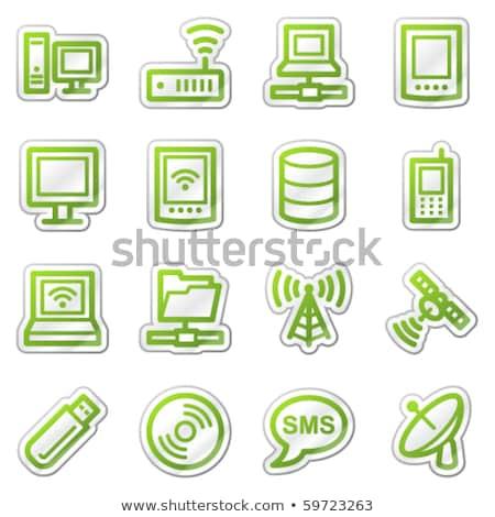 Assinar verde vetor ícone botão Foto stock © rizwanali3d