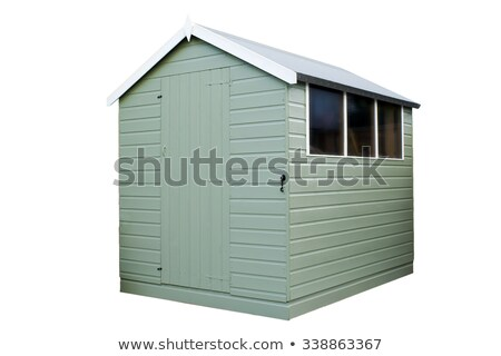 Wooden Garden Shed (Isolated) Stock photo © tilo