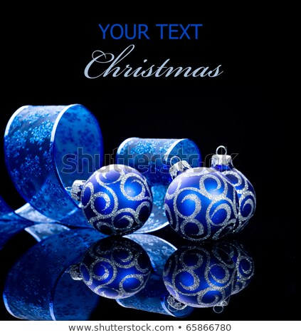 Niebieski 2011 christmas numery wybuch Zdjęcia stock © Captainzz
