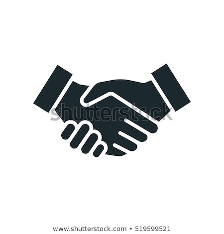 Stock photo: Sign shaking hands and friendship