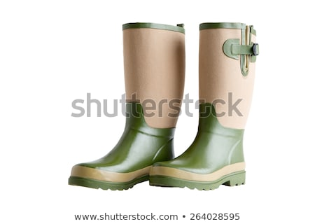Stock photo: Pair Of Stylish Ladies Gardening Boots