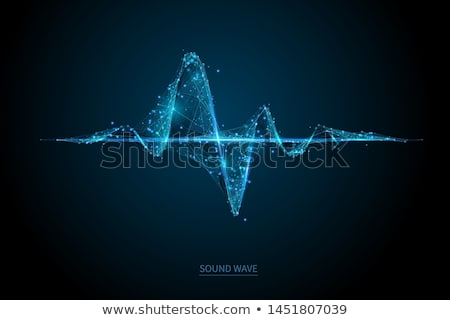 Stock fotó: Kék · szívdobbanás · fehér · vonalak · háttér · művészet